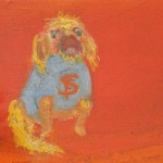"Detail Florine Stettheimer initials on dog sweater ""Sales at Bendel's"" 1921"