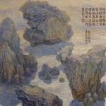 Hongtu Monet study of Pi Ma Ts'un and Jie So Ts'un 2007 oil on cancvas
