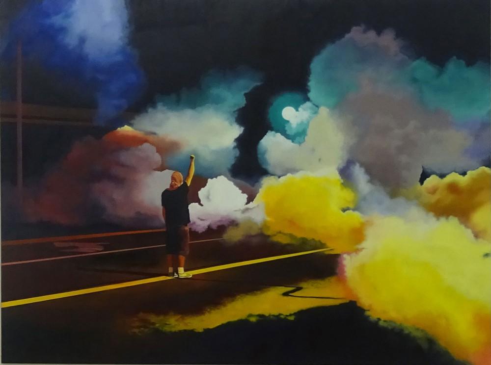 Johann Rivat - Free Fist 190x250 oil on canvas 2015