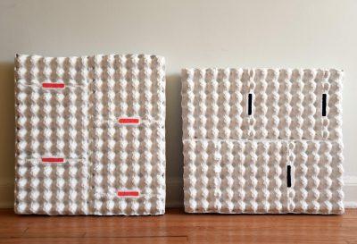 4slag-3wijd, vangerven|vanrijnberk, egg carton, glue, paper, acrylic paints